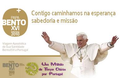 Terços por Portugal e Papa Bento XVI em Portugal